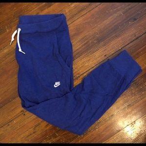 Blue Nike Capri Sweatpants, Size small